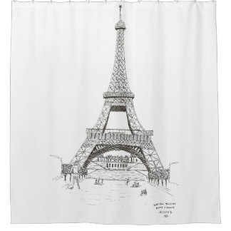 Eiffel Tower Sketch, Paris, France 1905