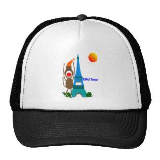 Eiffel Tower Sock Monkey Gifts Trucker Hat