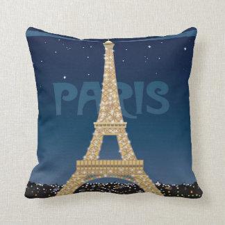 Eiffel Tower Sparkle Throw Pillow