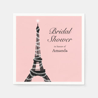 Eiffel Tower Sparkles Napkin Paper Napkins