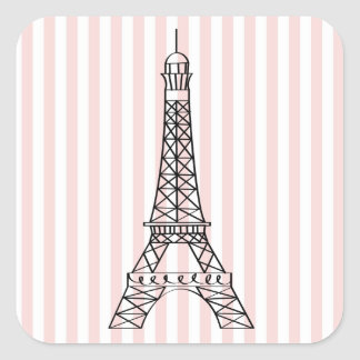 Eiffel Tower Square Sticker