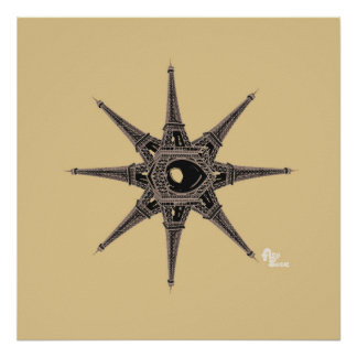 Eiffel Tower Star Poster