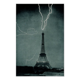 Eiffel Tower Struck Poster