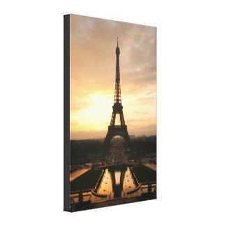 Eiffel Tower Sunrise Canvas Print