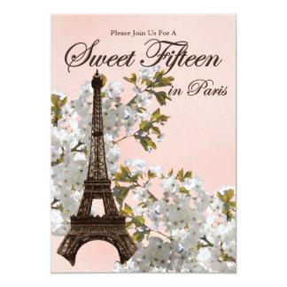 Eiffel Tower Sweet 15 Fifteen Invitations