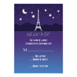 Eiffel Tower Sweet Sixteen RSVP Card
