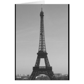 Eiffel Tower Thank you card