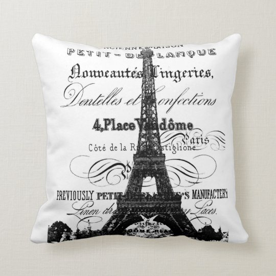 "Eiffel Tower Throw Pillow 20"" x 20"""