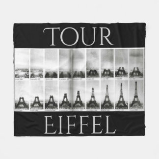 Eiffel Tower Tour Eiffel Construction Stages Paris Fleece Blanket