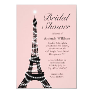 Eiffel Tower Twinkles Bridal Shower Invitation