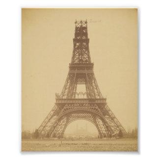 Eiffel Tower Under Construction 1888 Photo Print
