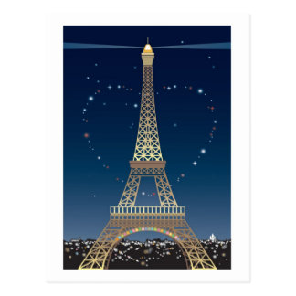 Eiffel Tower Valentine post card