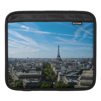 Eiffel Tower view from the Arc du Triomphe, Paris iPad Sleeves