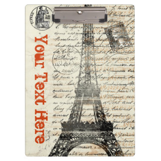 Eiffel Tower Vintage French Clipboard