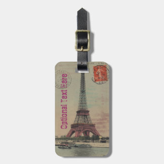 Eiffel Tower Vintage French Luggage Tag