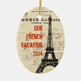 Eiffel Tower Vintage French Ornament