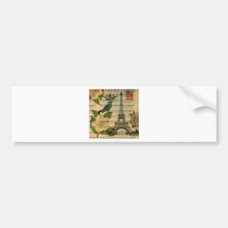 Eiffel Tower vintage Paris Bumper Sticker