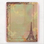 Eiffel Tower Vintage Style in Pink Mousepad