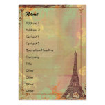 Eiffel Tower Vintage Style Profile/Save the Date Business Card Template