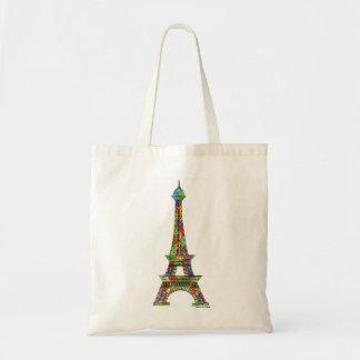 Eiffel Tower Watercolor Paint Tote Bag
