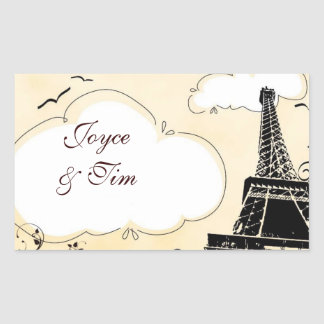 Eiffel Tower with clouds Sticker