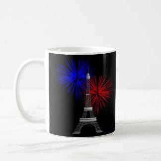 Eiffel Tower with Fireworks Coffee Mug