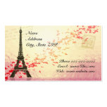 Eiffel Tower with floating hearts Business Cards