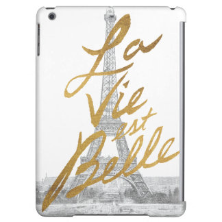 Eiffel Tower with Gold writing Case For iPad Air