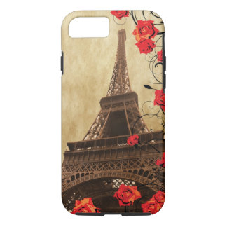 Eiffel Tower with Red Roses iPhone 7 Case