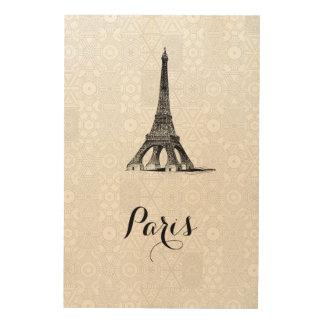 Eiffel Tower wood wall art Wood Prints