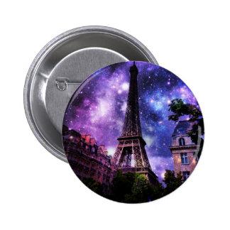 EiffelTower Celestial 2 Inch Round Button