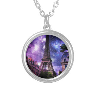 EiffelTower Celestial Silver Plated Necklace