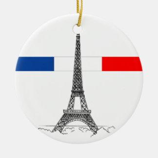 Eiffle Tower Ceramic Ornament