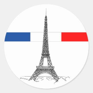 Eiffle Tower Classic Round Sticker