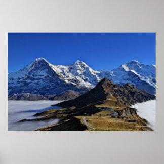 Eiger, Mönch und Jungfrau, Switzerland, Schweiz Poster