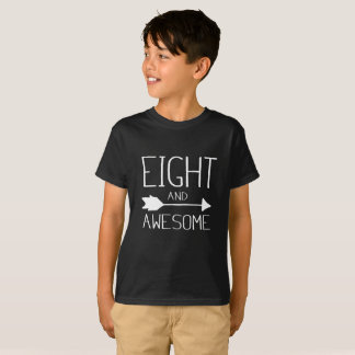 Eight And Awesome 8th Birthday Gift T-Shirt