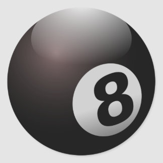 Eight Ball Classic Round Sticker