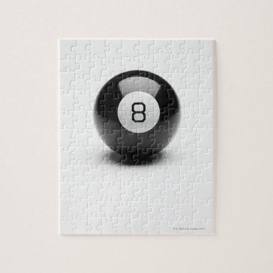 Eight ball jigsaw puzzle