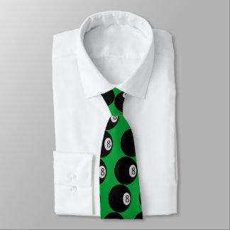Eight Ball on Green Sport Neck Tie