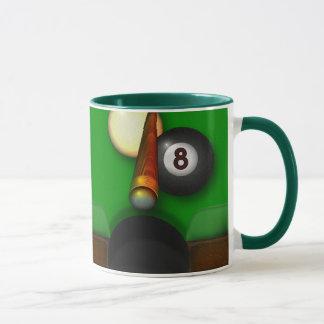 Eight Ball Pool and Billiards Personalized Mug