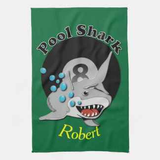 Eight Ball Pool Shark Kitchen Towel