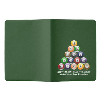 Eight-Ball Rack Billiard Balls 8-Ball Pool Game Extra Large Moleskine Notebook