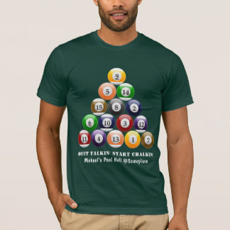 Eight-Ball Rack Billiard Balls 8-Ball Pool Game T-Shirt