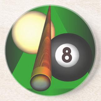 Eight Ball Sandstone Coaster