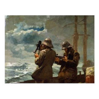 Eight Bells by Winslow Homer Postcard