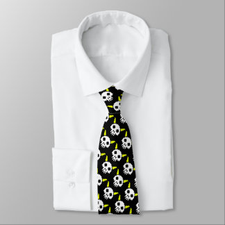 Eight Bit Horned Skull Tie