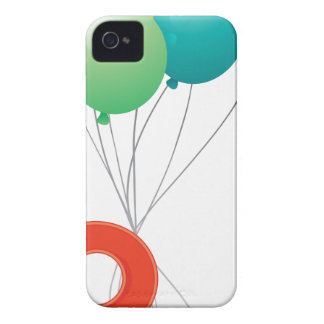 Eight colourful balloons iPhone 4 case