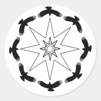 Eight Crow Star Classic Round Sticker