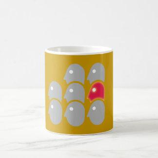 Eight heads individualist loner coffee mugs