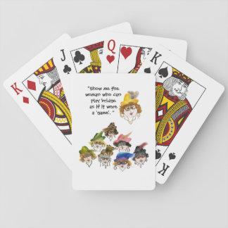 Eight Humorous Bridge Player Ladies Playing Cards